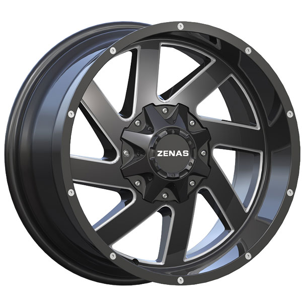 Zenas ZW12 Black with Milled Spokes